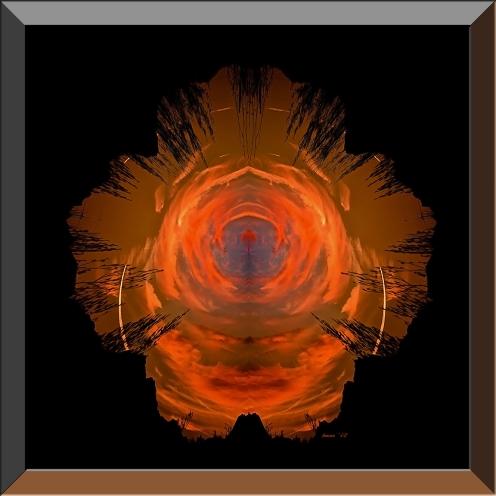 Desert Eye Sunset II blog framed II