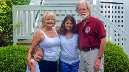 Audrey, Joy, Hannah and Kenne
