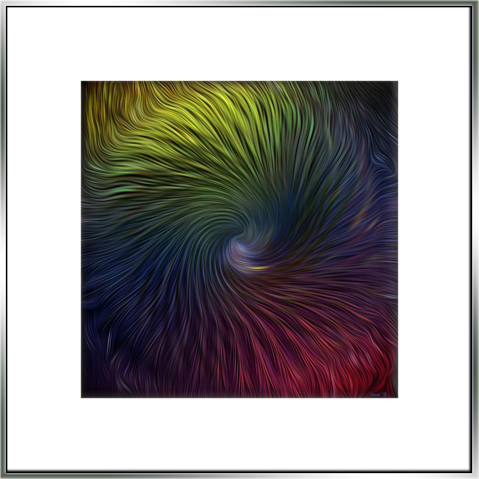 Tanuri Ridge Flowers Auguat 2013-7791 Barrel Cactus paint filter blog II framed