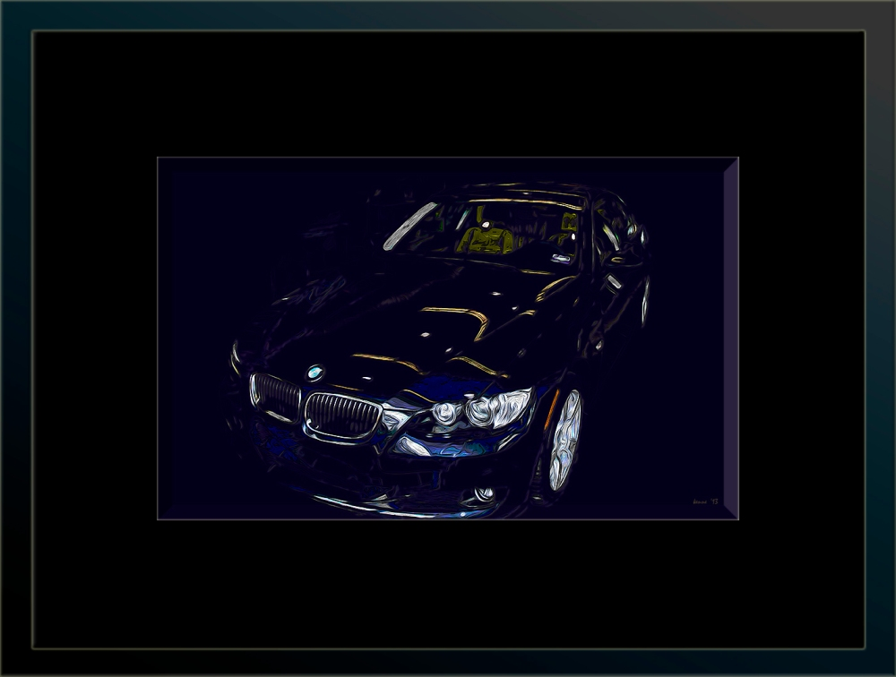 BMW2006-12-14-03 I art blog framed