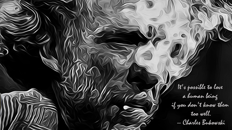 Charles Bukowski Art Quote blog