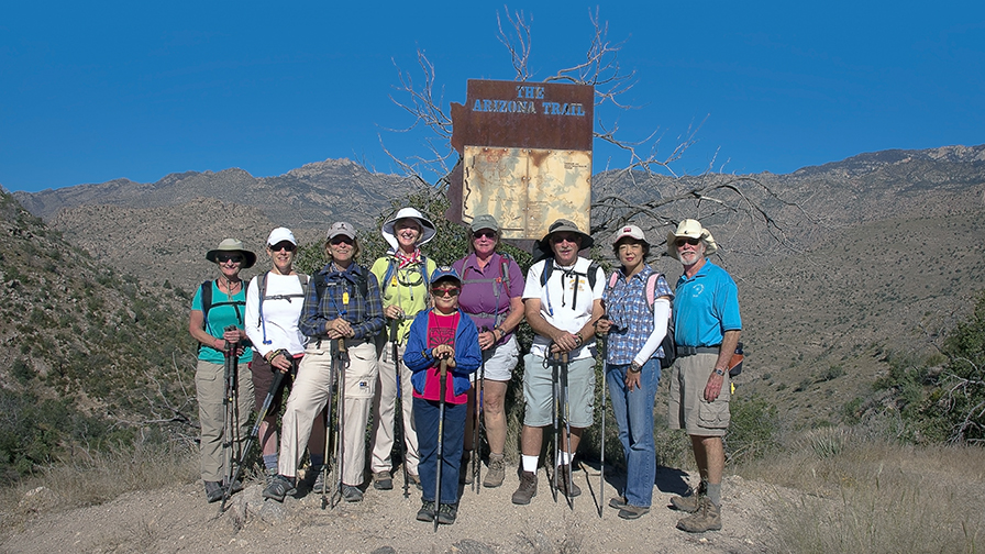 Today's Non-Official Friday Hiking Group.
