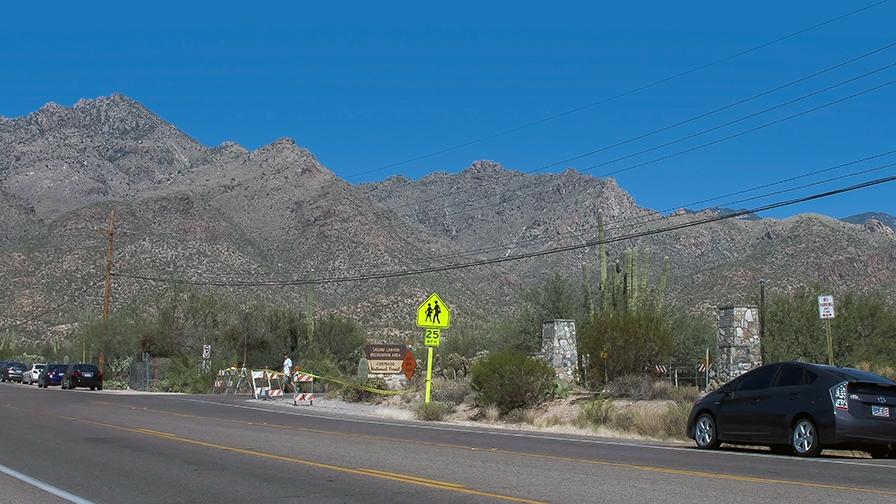 Closed Entrance To Sabino Canyon.