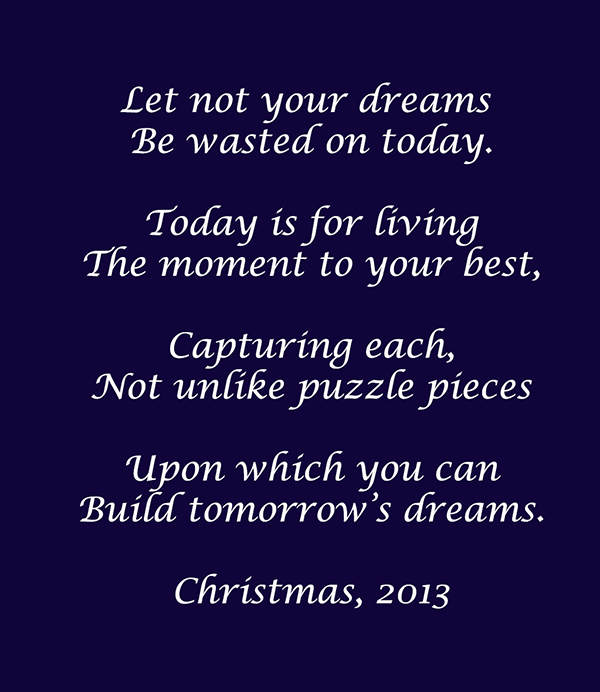 Microsoft Word - Let not your dreams.docx