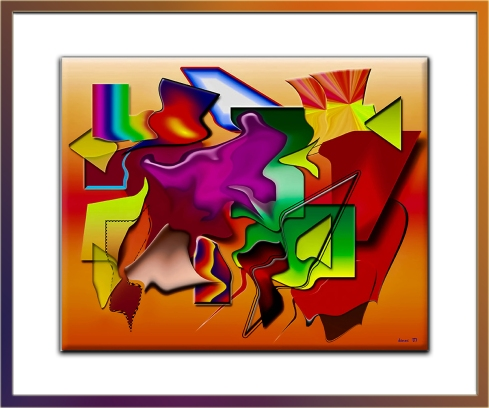 Abstract Art- framed blog