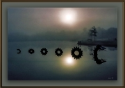 Lake Dragon 1999- art framed