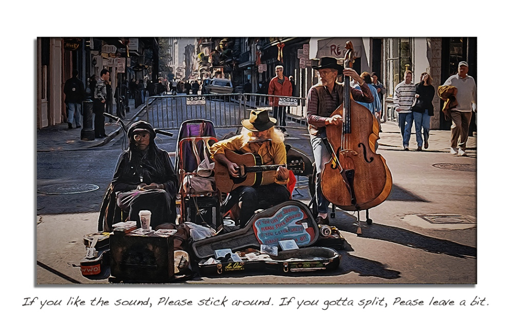 New Orleans Bourbon Street--4 Art blog framed