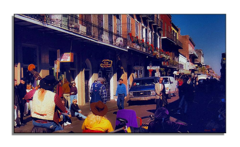New Orleans Bourbon Street--5 art blog