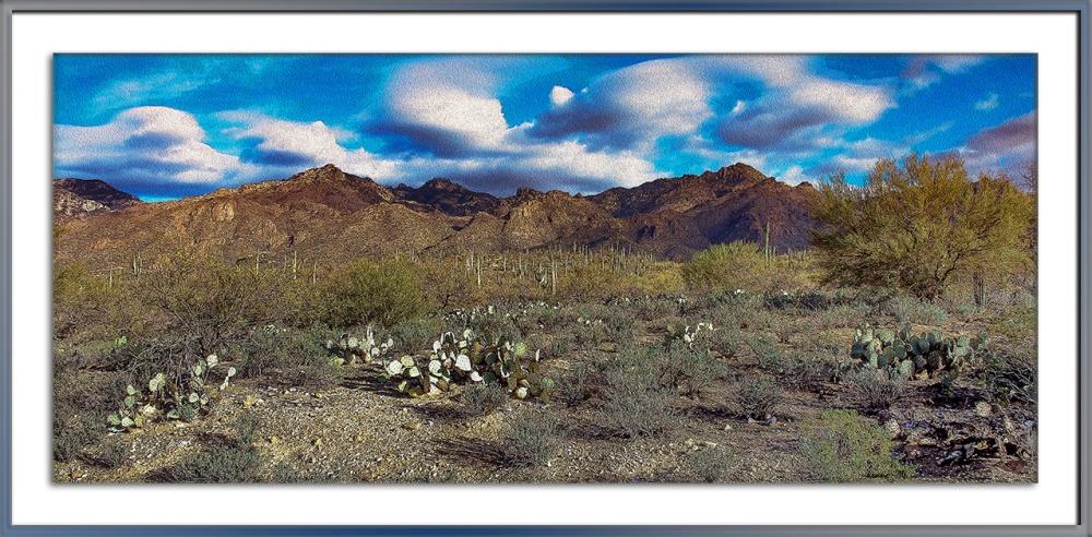 Blackett's Ridge-9880 Desert Landscape Art II blog framed