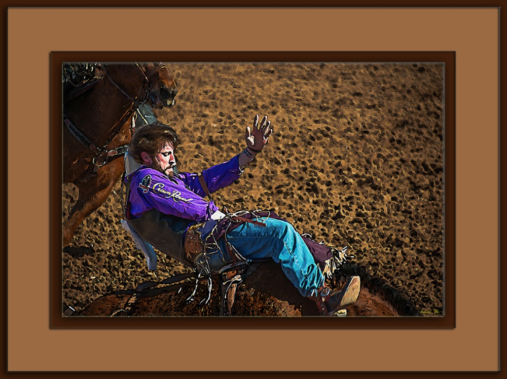 Tucson Rodeo 2014-0110-2 Bareback Rider Art_edit blog