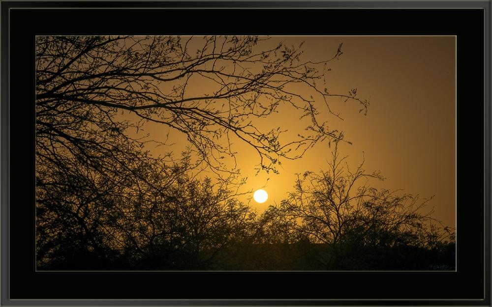 Dusty Sunset (1 of 1) blog framed