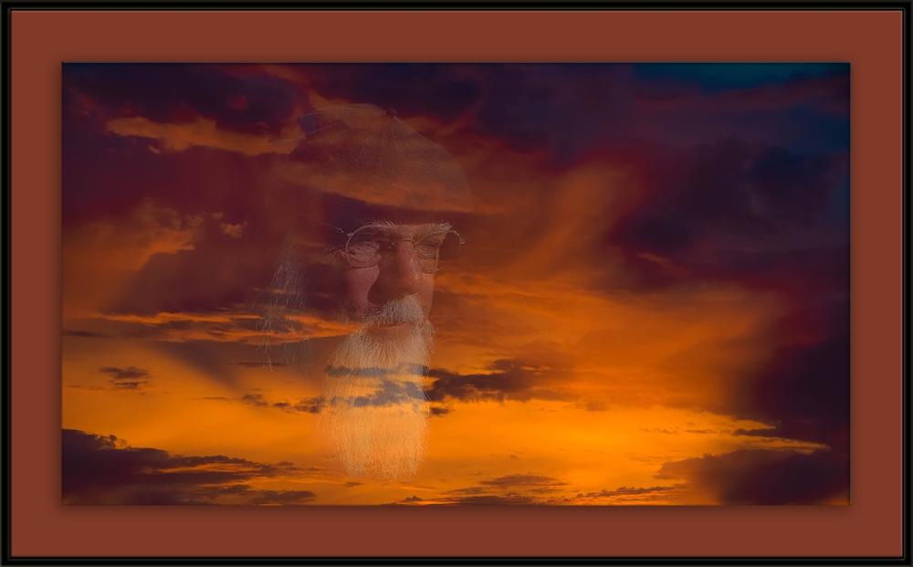 Brother at Sunrise (1 of 1) blog framed