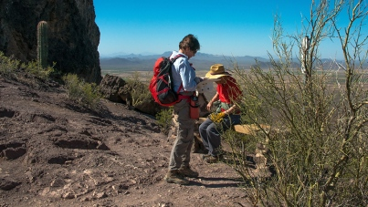 Virginia & Jim At The Hunter Trail Saddle