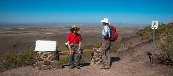 Jim & Virginia At The Hunter Trail Saddle