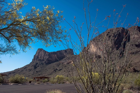 Hunter Trail Parking Lot at Picacho Peak State Park