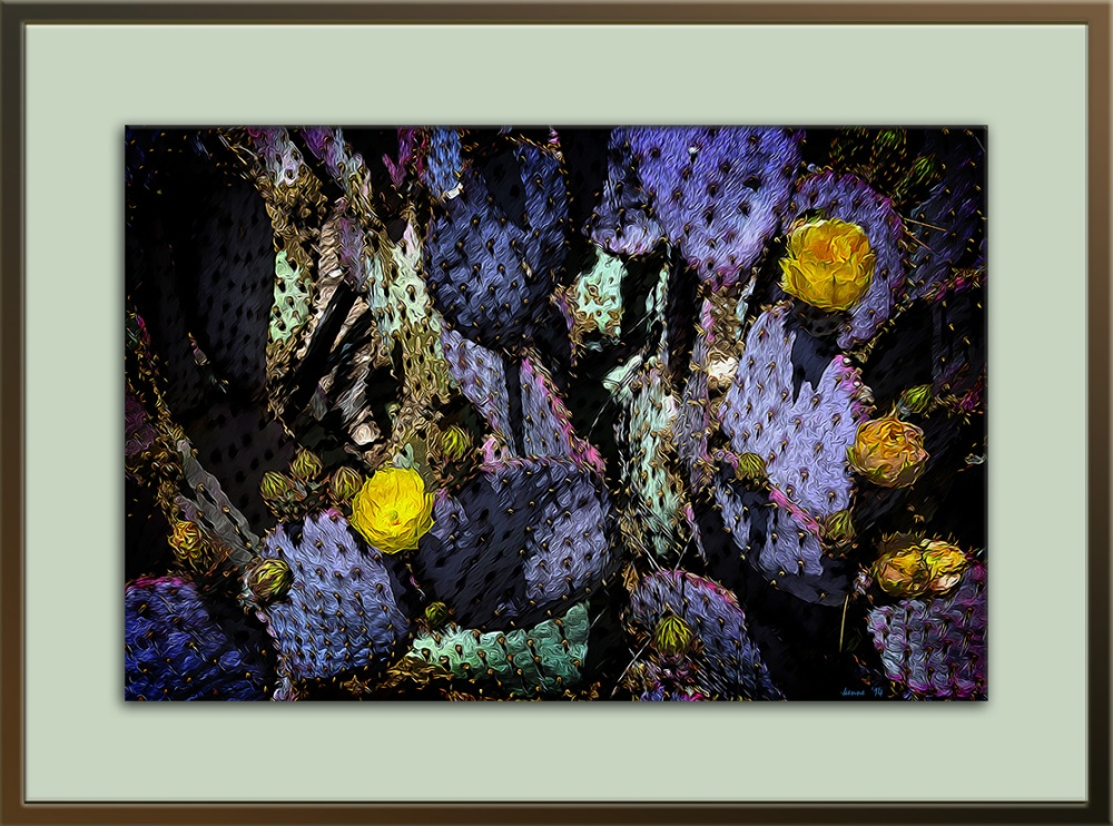 Prickly Pear (1 of 1)-2 art III blog framed