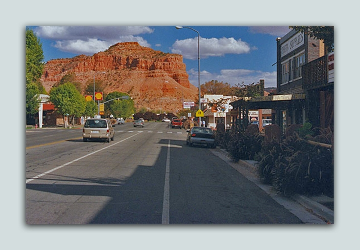 kanab main street framed