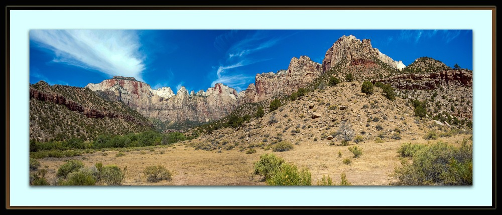 Zion Park (1 of 1)-3 Panorama blog framed
