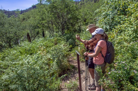 Dan and Barb at Crystal Springs Trail Junction
