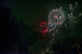 Fireworks seen from our nighborhood