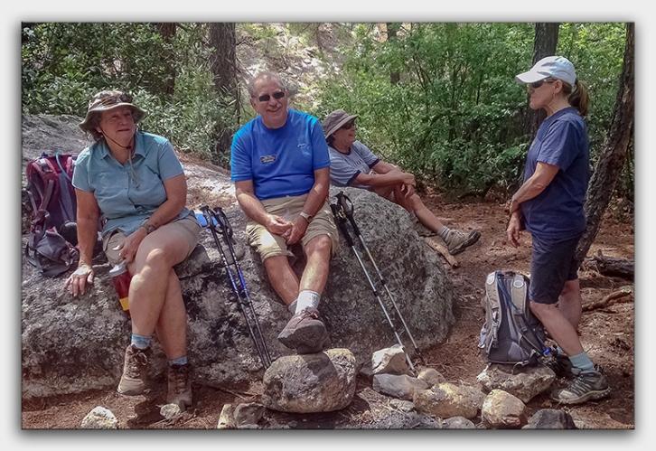 Lemmon Rock-Wilderness Rock (1 of 1)-3 Ann, Jeff, Janis, Barb blog framed