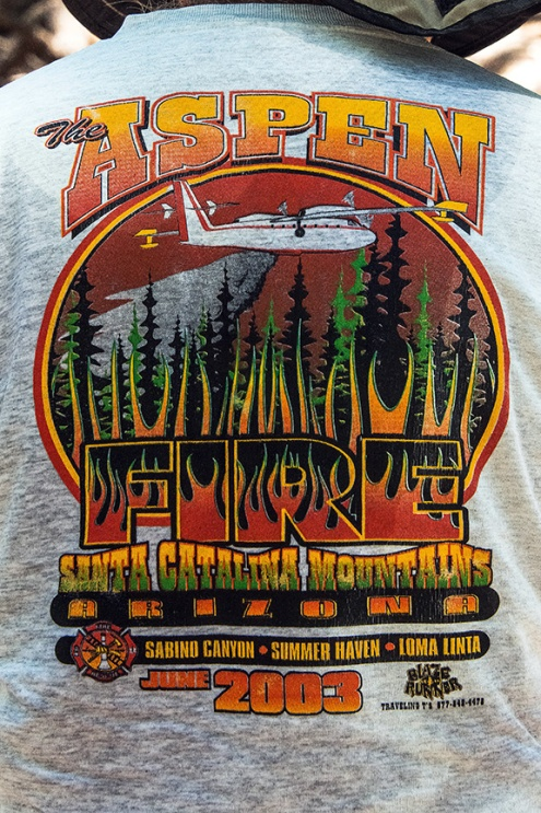 Jeff's 2003 Aspen Fire Shirt