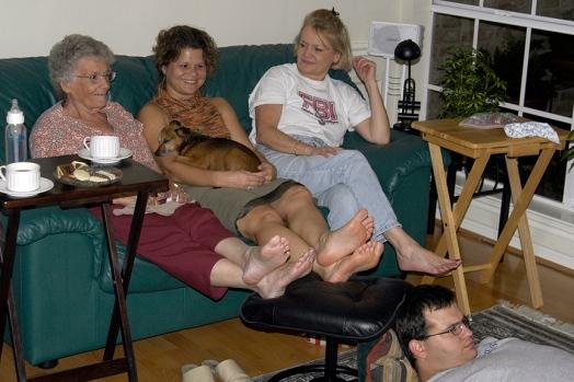 Virginia, Jill, Joy & Justin