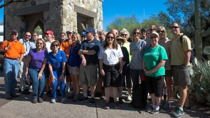Group In Front of Visitors Center