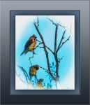 Cedar Waxwing Painting (1 of 1) artblog