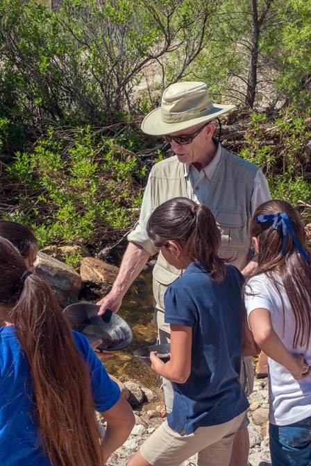 Naturalist, Mr. Ed with 4th Grade Students