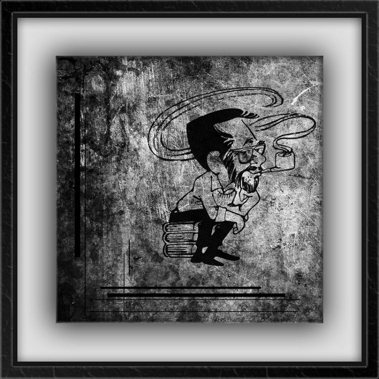 Kenne Caricature III framed blog