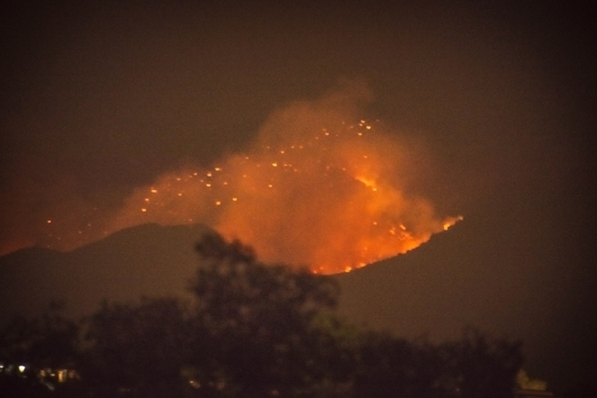 Wildfires are Intimidating at Night