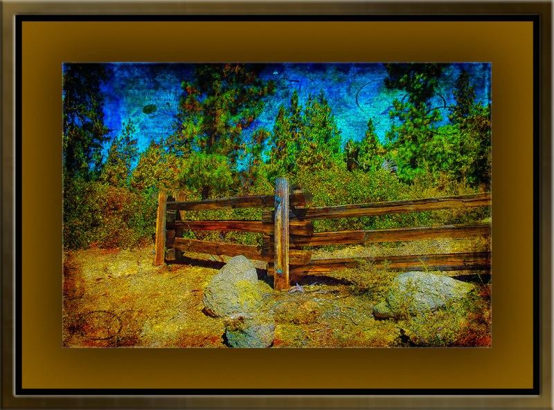 Lake Tahoe Fence (1 of 1)-Grunge Landscape blog