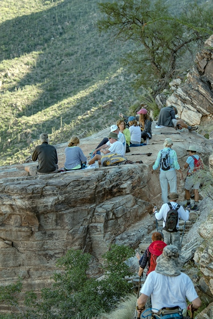 Coming Upon Another Group of Hikers