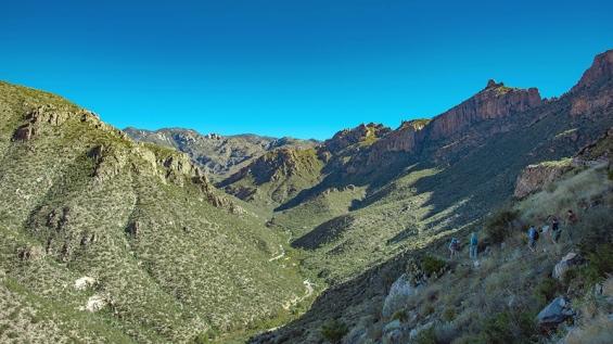 View Up Into Sabino Canyon