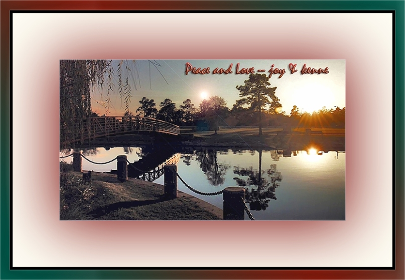 Lake Woodlands Christmas 1999 peace & love blog