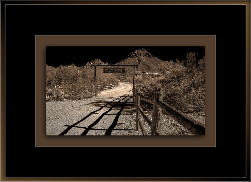 Old Tucson High Chaparral-B-W blog framed