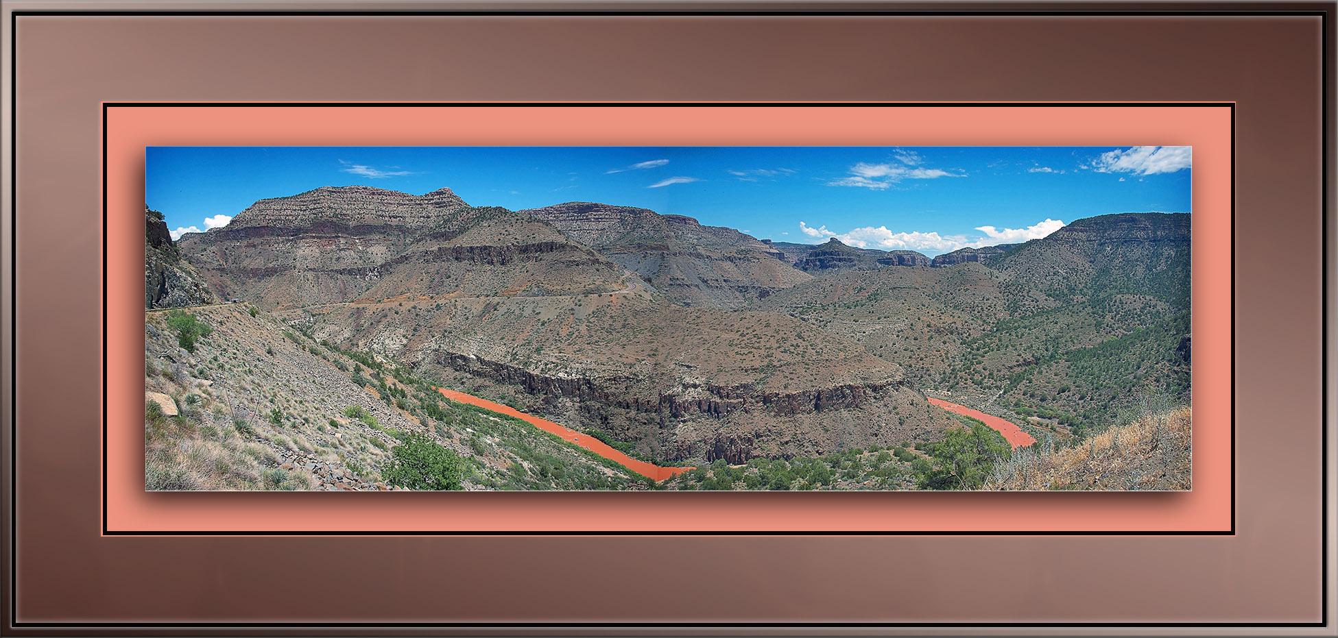 Salt River Canyon Panoranma blog framed