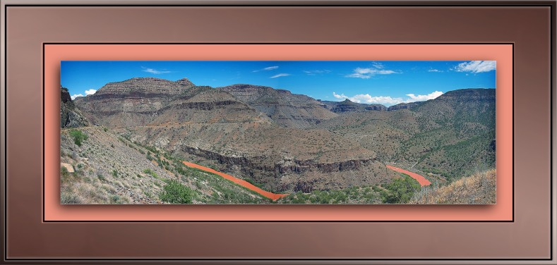 Salt River Canyon Panoranma blog framed