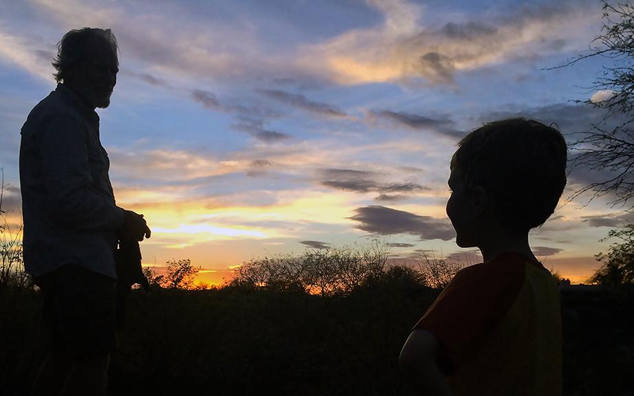 Silhouette granddad and Jaxon - 2 blog