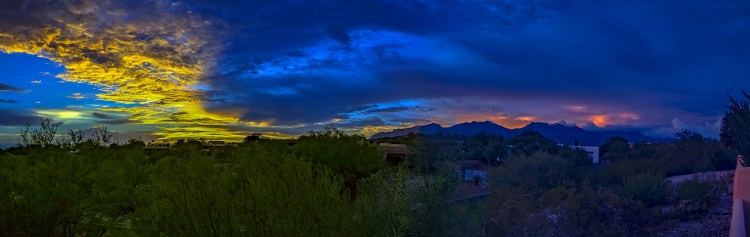 Monsoon Sunset Panorama- blog II