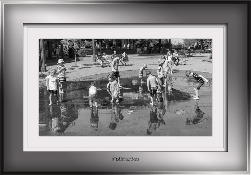 Children Play In Water B-W-0161 blog