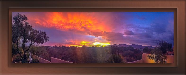 Patio Sunset Panorama blog