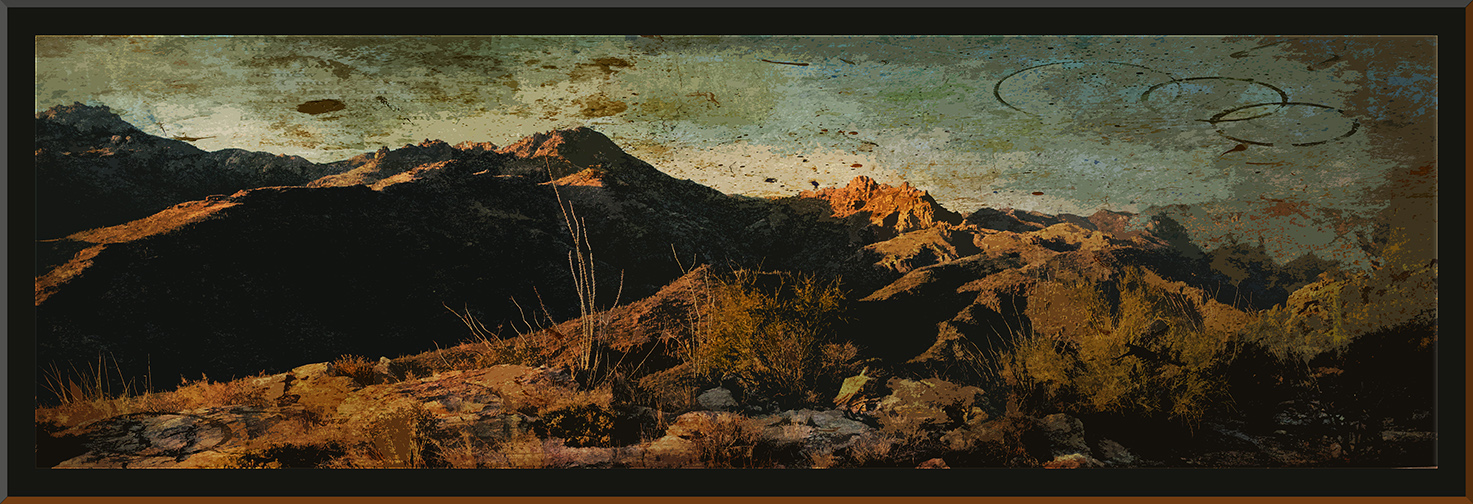 Sunset Canyon Shadows_Panorama1 grunge art blog
