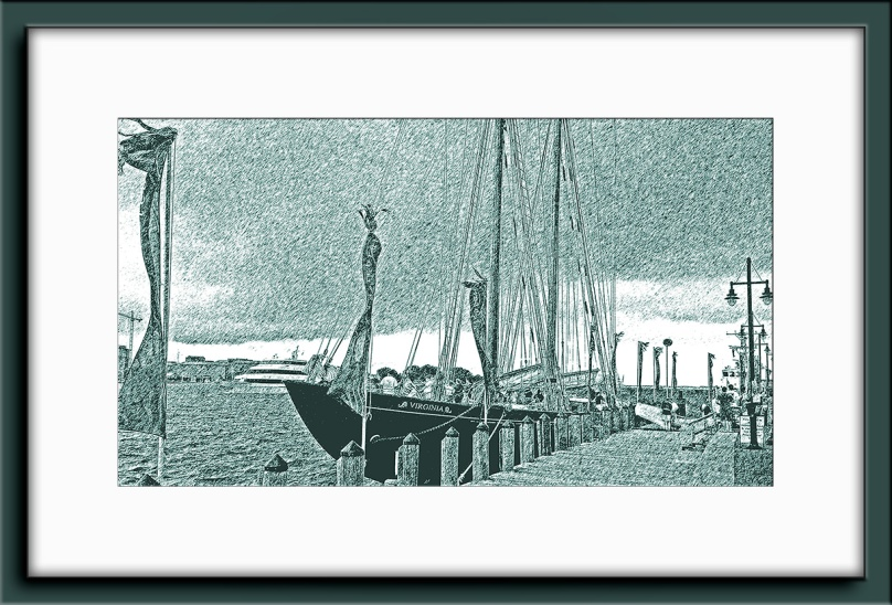 Norfolk Tall Ship-Graphic Pen Art blog