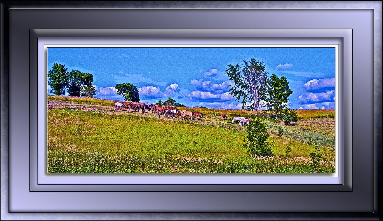 Fredric 3170 Horses Painting blog II