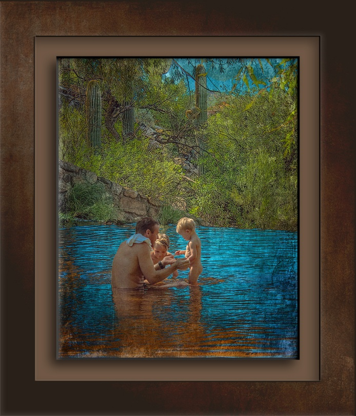 Sabino Creek - father & sons (1 of 1)art blog