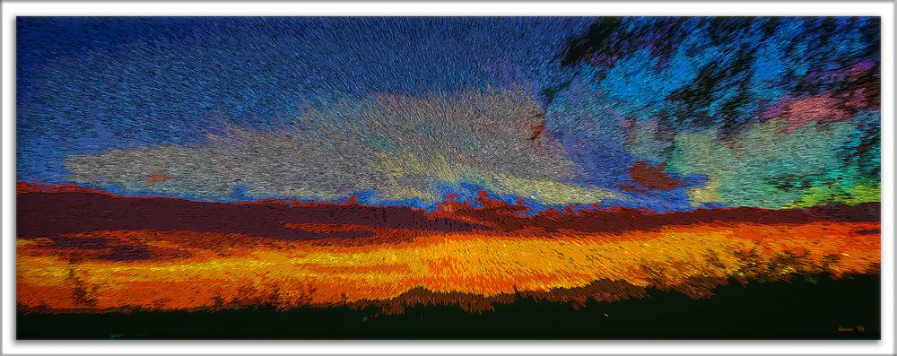 Sunsets January 28, 2014-art_edit II blog framed