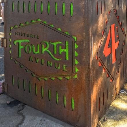 Fourth Avenue Trash Container