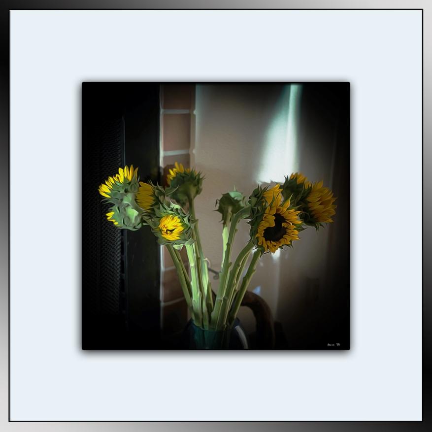 Sunflowers On Hearth (1 of 1) blog